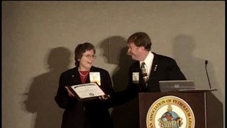 William Hottman and Susan Waters receive 2009 Jim Hartman Service to Students Award
