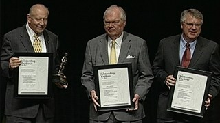 John Amoruso, James Bartell and Larry Bartell receive the 2010 Outstanding Explorer Award