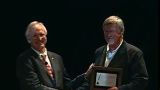 Tom Zoellner and Ronald Blakey receive the 2011 Geosciences in the Media Awards
