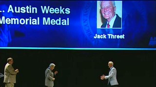 Jack Threet receives the 2011 L. Austin Weeks Medal