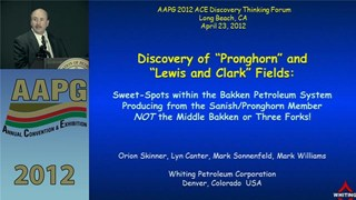 Orion Skinner - Discovery of 'Pronghorn' and 'Lewis and Clark' Fields
