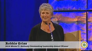 Robbie Gries receives the 2012 Michel T. Halbouty Award