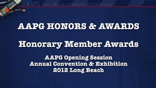 AAPG Honorary Member Awards at ACE2012