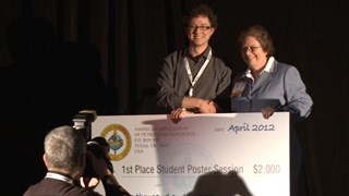 Sue Waters presents 2012 Best Student Poster Presentation Awards