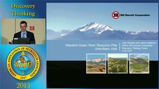 John Roesink and Jason Anderson - Wasatch-Green River Resource Play, Utah