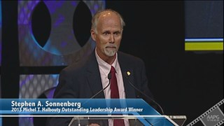 Stephen A. Sonnenberg receives the 2013 Michel T. Halbouty Award