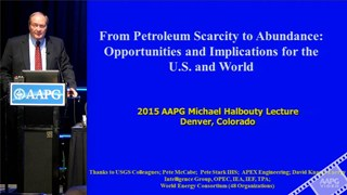 Thomas S. Ahlbrandt, ACE2015 Michel T. Halbouty Lecture