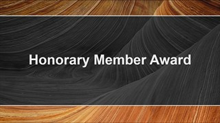 AAPG Honorary Member Awards at ACE2018