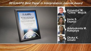 SEG/AAPG Best Paper in Interpretation Journal Awards at ACE2018