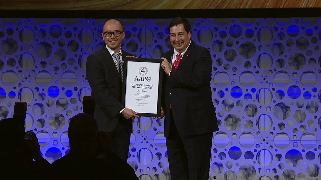 AAPG J. C. 'Cam' Sproule Memorial Awards at ACE2018