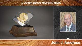 John Amoruso receives the 2018 L. Austin Weeks Medal