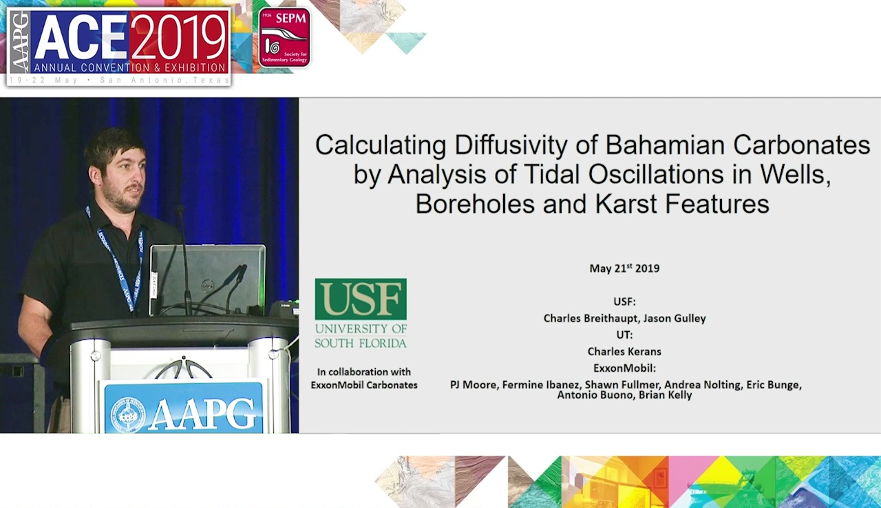 Charles Breithaupt - Calculating Diffusivity of Bahamian Carbonates by Analysis of Tidal Oscillations in Wells, Boreholes and Karst Features