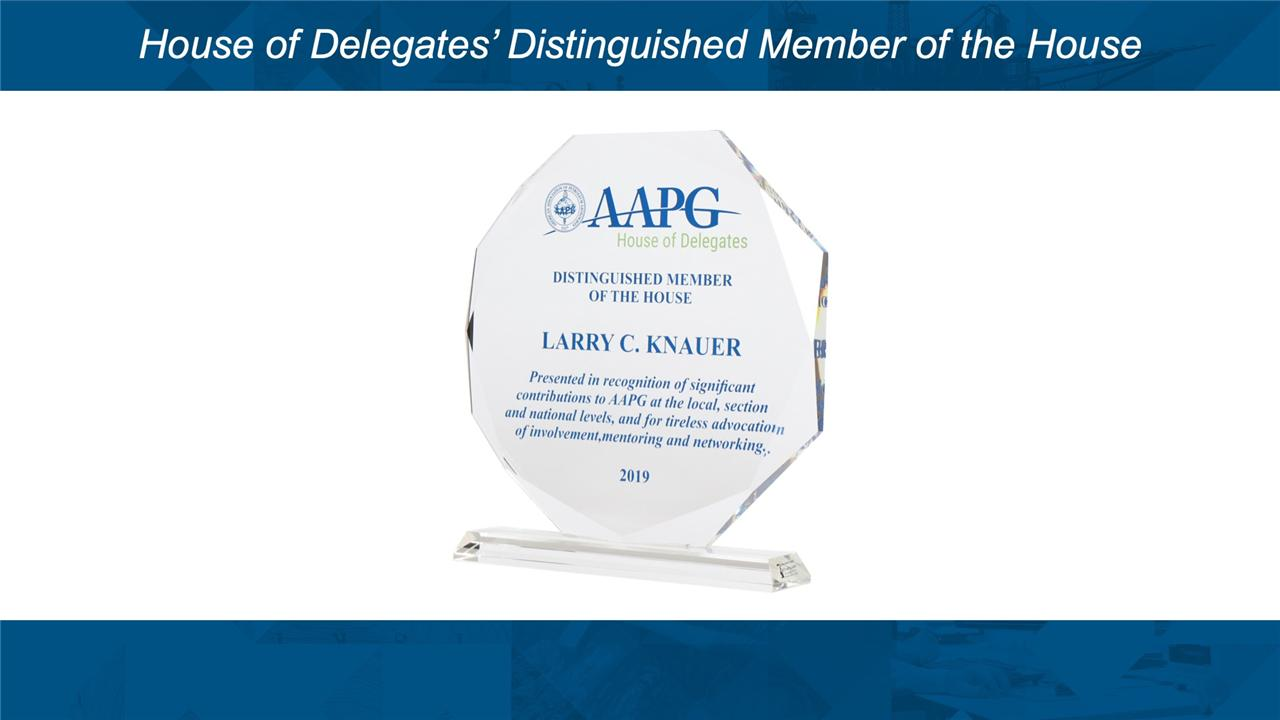 AAPG HoD Distinguished Member Awards at ACE2019
