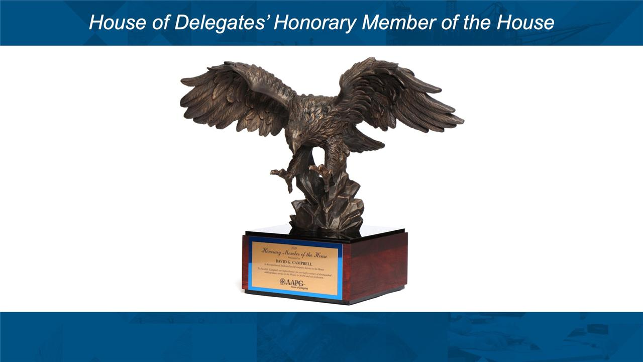 AAPG HoD Honorary Member Awards at ACE2019