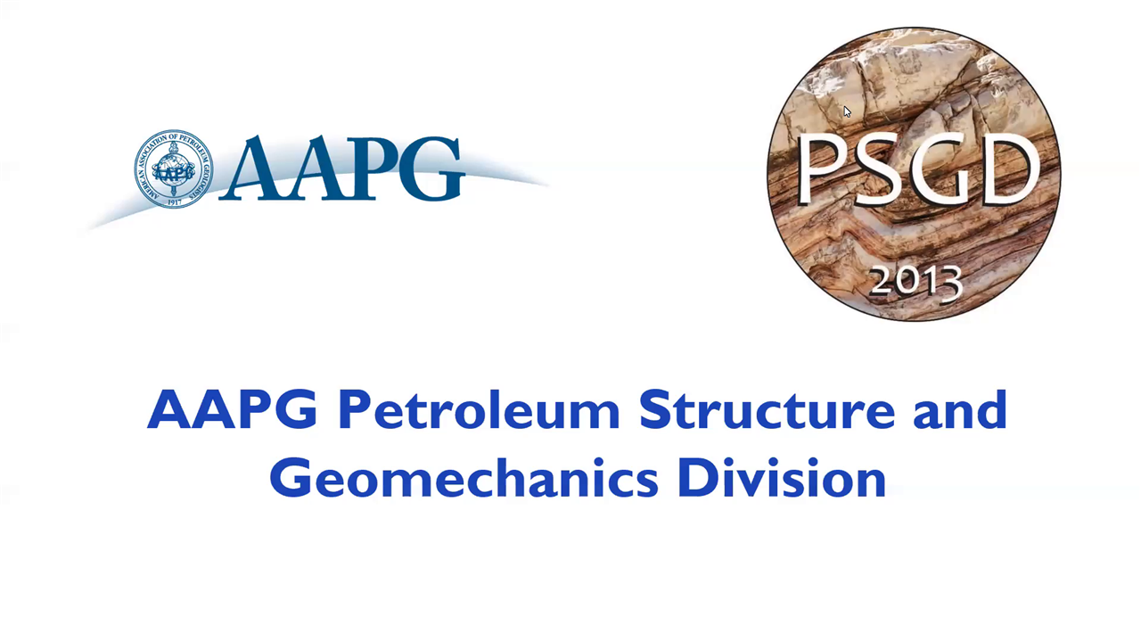 2020 AAPG Petroleum Structure and Geomechanics Division (PSGD) Annual Meeting