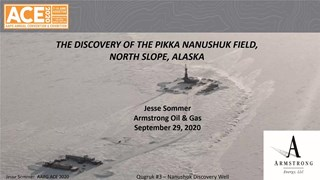 Jesse Sommer - Pikka Field and the Opening of the Nanushuk Play, North Slope, Alaska