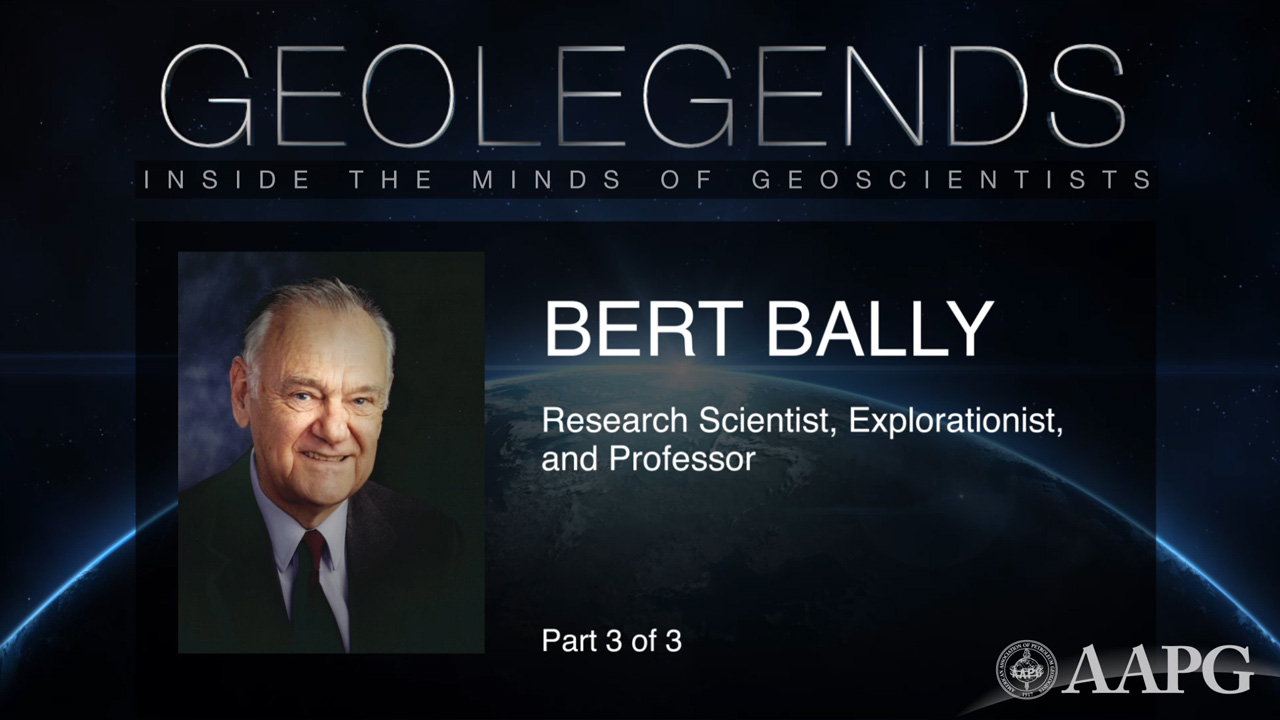 GeoLegends: Bert Bally (Part 3)
