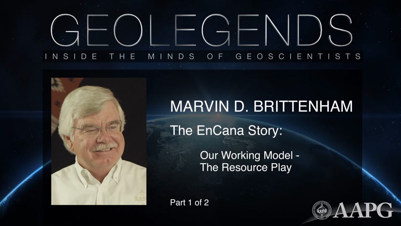 GeoLegends: Marvin D. Brittenham (Part 1)
