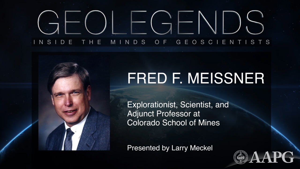 GeoLegends: Fred F. Meissner (presented by Larry Meckel)
