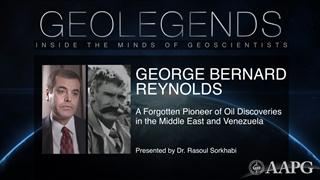 GeoLegends: George Bernard Reynolds (presented by Dr. Rasoul Sorkhabi)