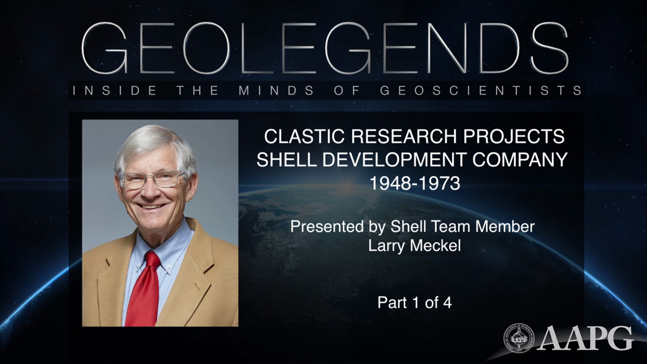 GeoLegends: Larry Meckel (Part 1)