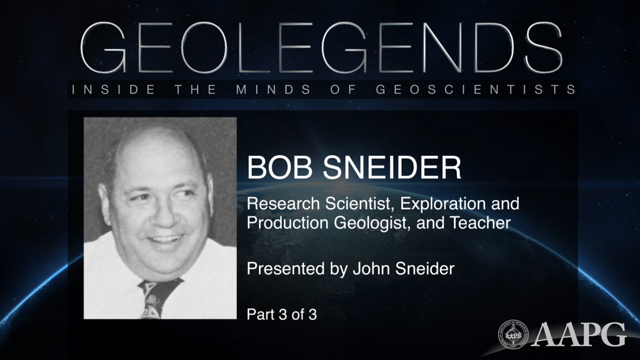 GeoLegends: Robert M. Sneider (presented by John Sneider, Part 3)