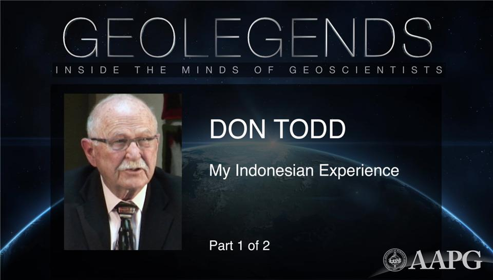 GeoLegends: Don Todd (Part 1)