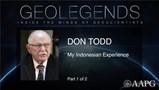 GeoLegends: Don Todd (Part1)