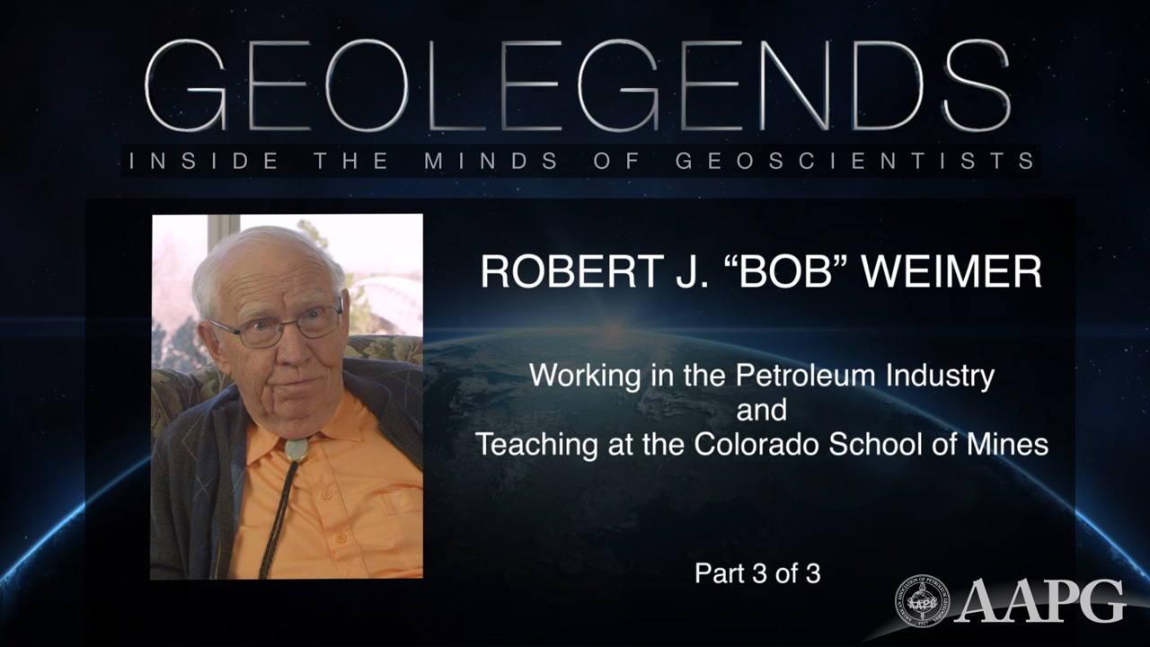 GeoLegends: Robert J. 'Bob' Weimer (Part 3)