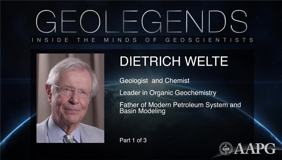 GeoLegends: Dietrich Welte (Part 1)