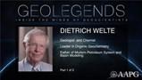 GeoLegends: Dietrich Welte (Part1)