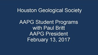 AAPG Student Programs with Paul Britt
