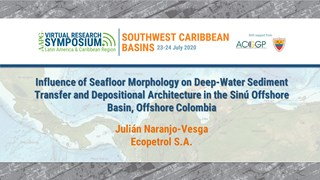 Influence of Seafloor Morphology on Deep-Water Sediment Transfer and Depositional Architecture in the Sinú Offshore Basin, Offshore Colombia