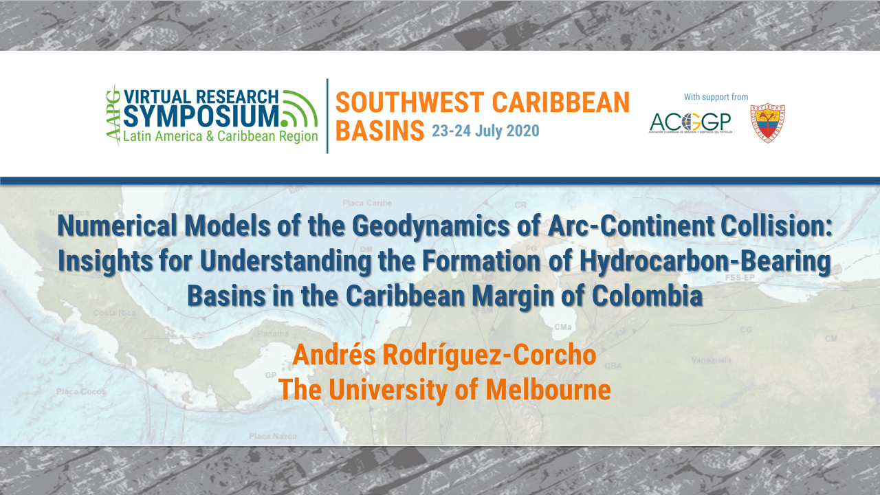 Numerical Models of the Geodynamics of Arc-Continent Collision: Insights for Understanding the Formation of Hydrocarbon-Bearing Basins in the Caribbean Margin of Colombia