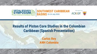 Results of Piston Core Studies in the Colombian Caribbean (Spanish Presentation)