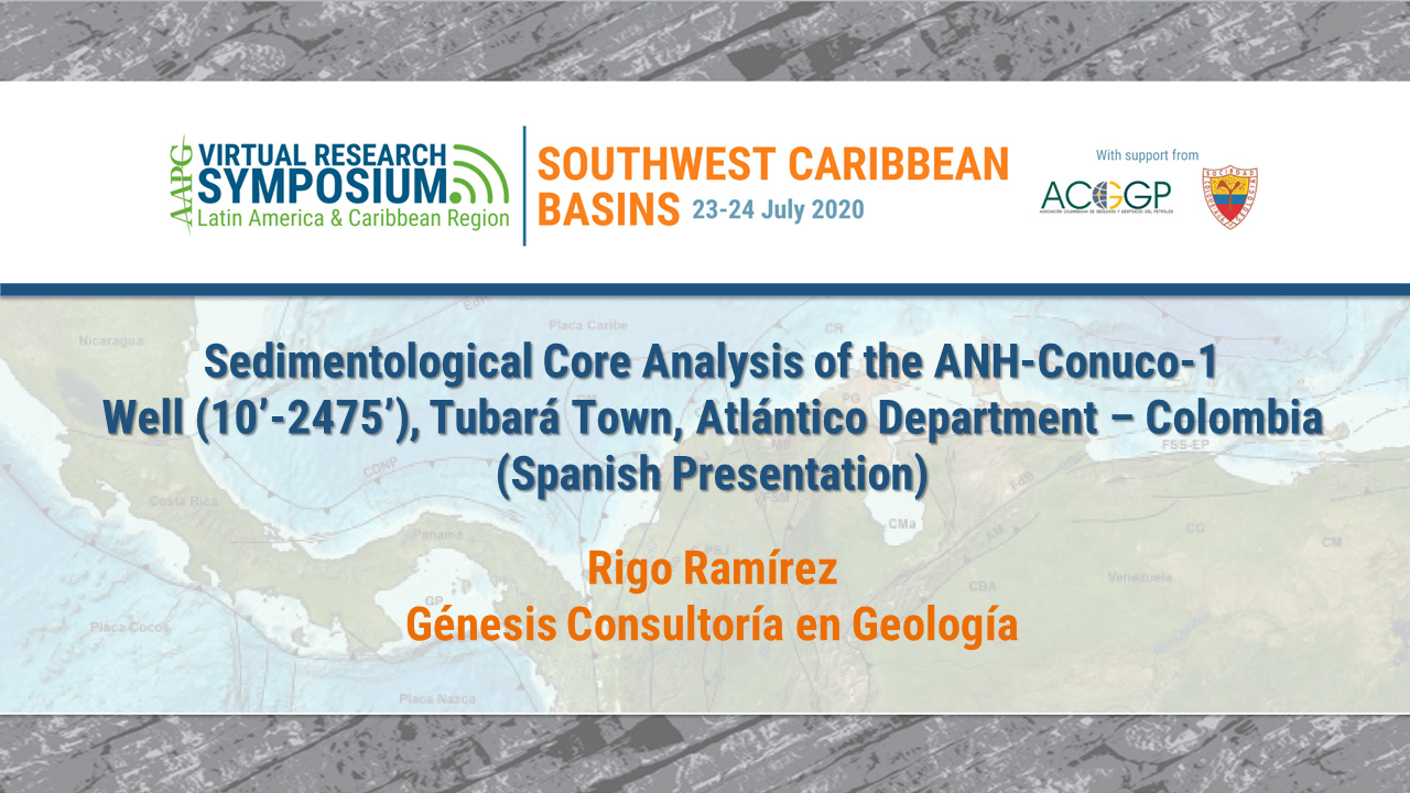 Sedimentological Core Analysis of the ANH-Conuco-1 Well (10'-2475'), Tubará Town, Atlántico Department - Colombia (Spanish Presentation)