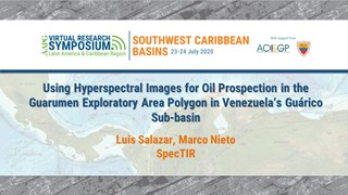 Using Hyperspectral Images for Oil Prospection in the Guarumen Exploratory Area Polygon in Venezuela's Guárico Sub-basin