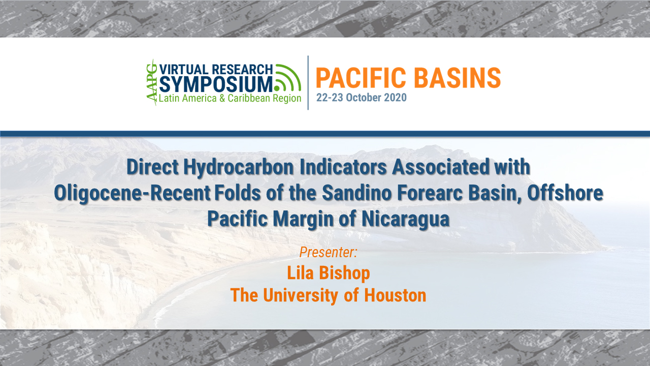 Direct Hydrocarbon Indicators Associated with Oligocene-Recent Folds of the Sandino Forearc Basin, Offshore Pacific Margin of Nicaragua