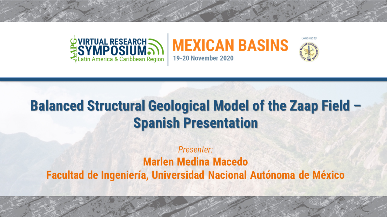 Balanced Structural Geological Model of the Zaap Field – Spanish Presentation