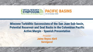 Miocene Turbiditic Successions of the San Juan Sub-basin, Potential Reservoir and Seal Rocks in the Colombian Pacific Active Margin - Spanish Presentation