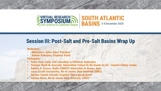 Session III: Post-Salt and Pre-Salt Basins Session Wrap-Up