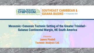 Mesozoic–Cenozoic Tectonic Setting of the Greater Trinidad–Guianas Continental Margin, NE South America