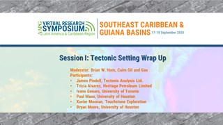 Southeast Caribbean Research Symposium - Session I: Tectonic Setting Wrap Up