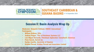 Southeast Caribbean Research Symposium Session II: Basin Analysis Wrap-up