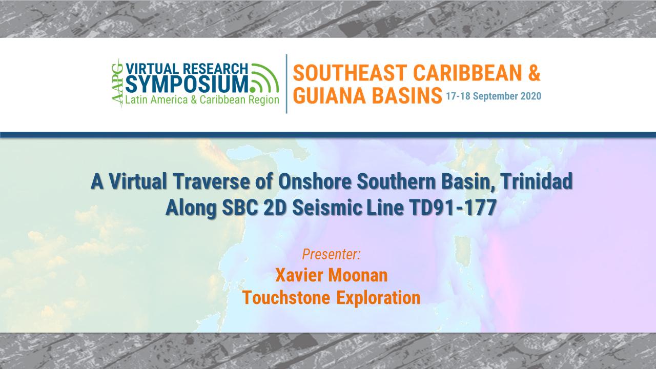 A Virtual Traverse of Onshore Southern Basin, Trinidad Along SBC 2D Seismic Line TD91-177