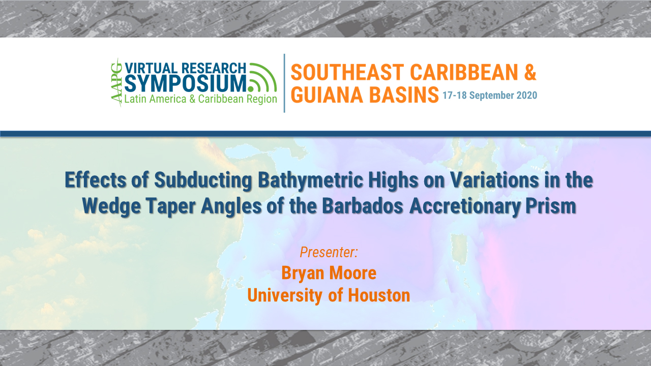Effects of Subducting Bathymetric Highs on Variations in the Wedge Taper Angles of the Barbados Accretionary Prism