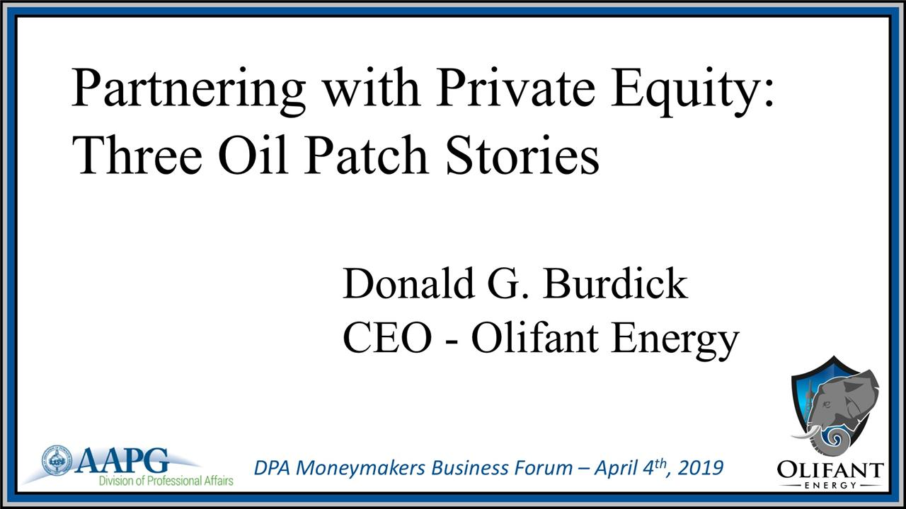 Don Burdick - Partnering With Private Equity: My Three Stories