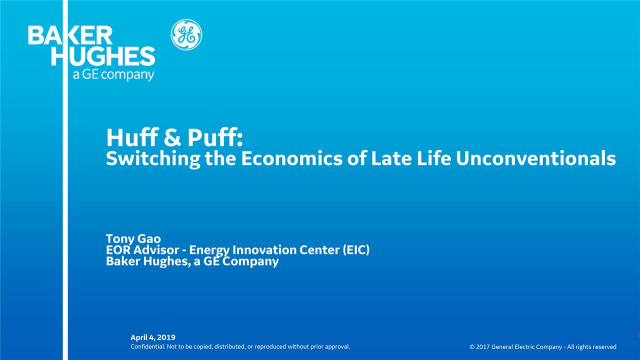 Tony Gao - Huff & Puff: Switching the Economics of Late Life Unconventionals