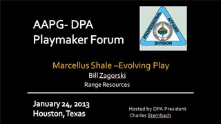 Bill Zagorski - Marcellus Shale: Evolving Play
