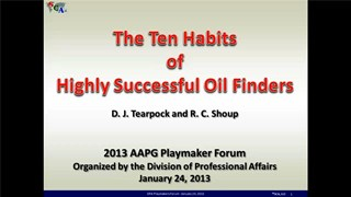 Dan Tearpock - The Ten Habits of Highly Successful Oil Finders